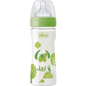 chicco-nature-glass-well-being-gualino-mpimpero-thili-silikonis-green-dod-0m-240ml