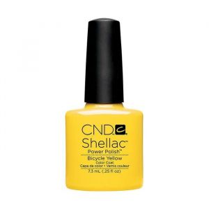 Cnd Shellac Bicycle Yellow Power Polish Color Coat 7.3ml