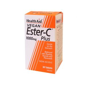 Health Aid Ester C Plus 1000Mg 30 Vegan Tabs