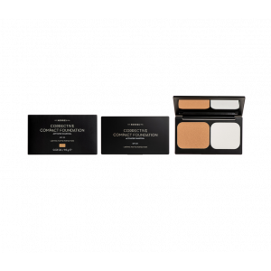 Korres Corrective Compact Foundation SPF20 Activated Charcoal ACCF3 Διορθωτικό Compact Make Up Με Ενεργό Άνθρακα 9.5gr