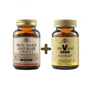 Solgar Skin Nails and Hair Formula 60tabs + Δώρο Solgar VM 2000 14tabs