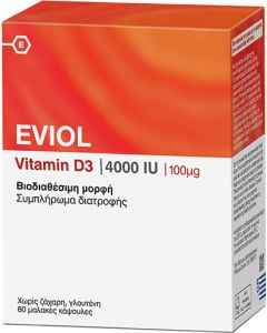 Eviol Vitamin D3 4000IU 100mg 60 Caps