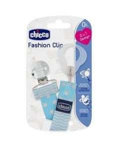Chicco Fashion Clip Πιπιλας Σιελ 0+Μ 1 Τμχ