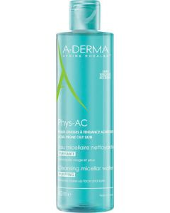 A-Derma Phys-Ac Purifying Micellar Water Νερό Καθαρισμού 400mL