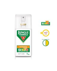 Omega Pharma Jungle Formula Strong Soft Care Με Irf 3 Spray Εντομοαπωθητικό Σπρέι 75ml