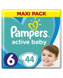 Pampers Active Baby Maxi Pack No 6 (13-18Kg) Βρεφικές Πάνες 44 Τμχ