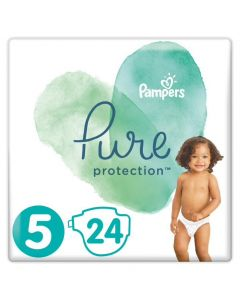 Pampers Pure Protection No 5 (11+Kg) Βρεφικές Πάνες 24 Τεμάχια