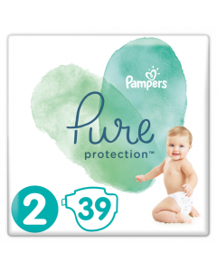 Pampers Pure Protection No 2 (4-8Kg) Βρεφικές Πάνες 39 Τεμαχια
