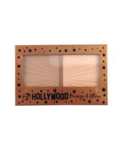 W7 Hollywood Διπλή Παλέτα Highlighter Bronze & Glow 13Gr